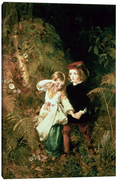 Children in the Wood Canvas Art Print