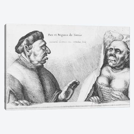 Rex et Regina de Tunis  Canvas Print #BMN3410} by Leonardo da Vinci Canvas Artwork