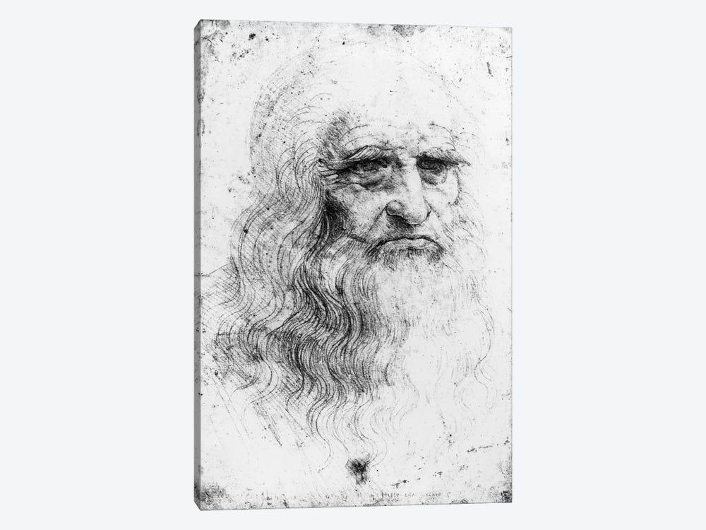 Lithograph, Self Portrait, c.1515-16 (Musei Reali Torino) by Leonardo da Vinci 1-piece Canvas Artwork