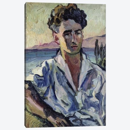Iosif Utkin, 1931  Canvas Print #BMN3412} by Aristarkh Vasilievic Lentulov Canvas Artwork