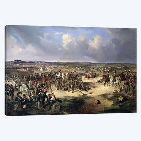 The Battle of Paris on 17th March 1814, 1834  Canvas Print #BMN3413} by Bogdan Willewalde Canvas Art