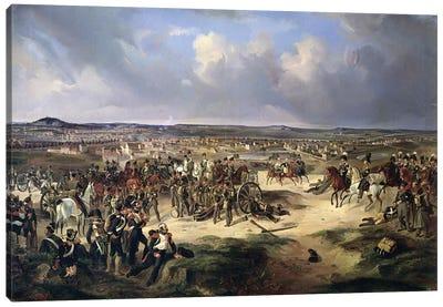 The Battle of Paris on 17th March 1814, 1834  Canvas Art Print