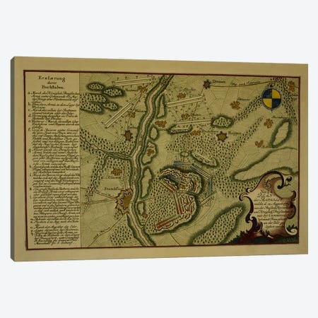 Plan of the Battle of Kunersdorf, August 12th, 1759, 1759  Canvas Print #BMN3417} by German School Art Print