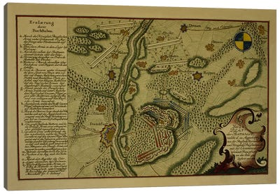 Plan of the Battle of Kunersdorf, August 12th, 1759, 1759 Canvas Art Print