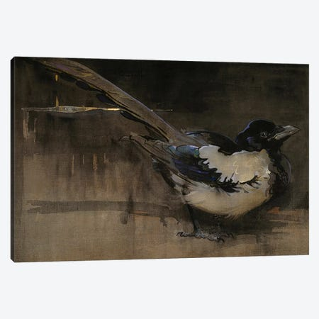 The Magpie  Canvas Print #BMN3419} by Joseph Crawhall Canvas Art