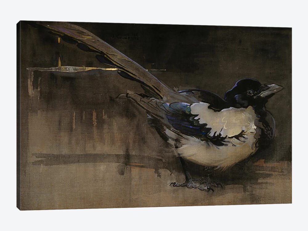 The Magpie  by Joseph Crawhall 1-piece Canvas Artwork