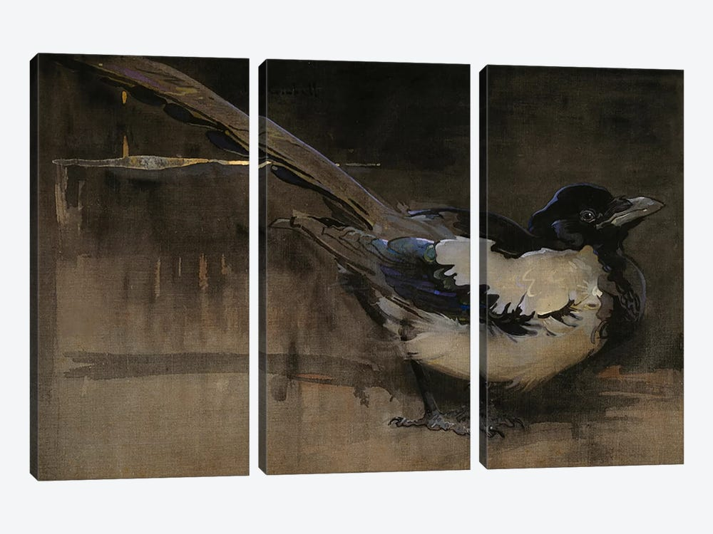 The Magpie by Joseph Crawhall 3-piece Canvas Art