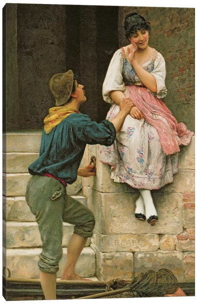 The Fisherman's Wooing, from the Pears Annual, Christmas, 1894 Canvas Art Print