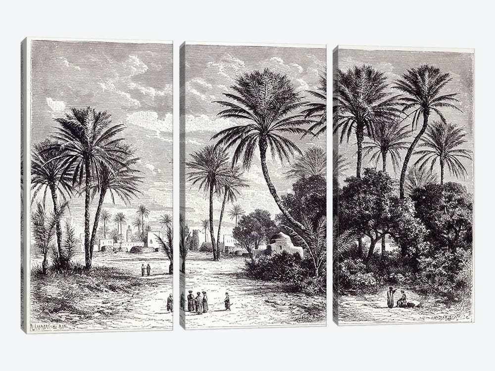 Oasis of Gafsa: Tunis by Charles Barbant 3-piece Canvas Artwork