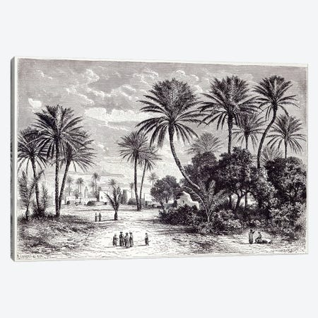 Oasis of Gafsa: Tunis  Canvas Print #BMN3422} by Charles Barbant Canvas Art Print