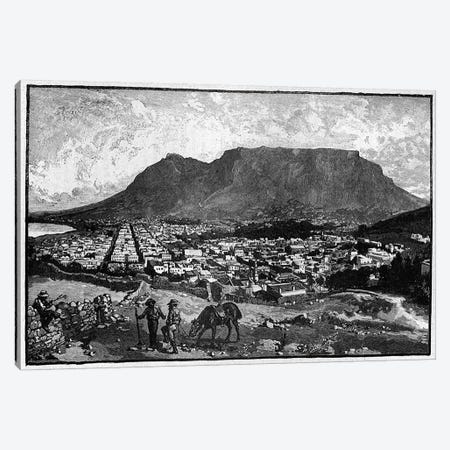 Cape Town, from 'The Life and Times of Queen Victoria' by Robert Wilson  Canvas Print #BMN3423} by English School Art Print