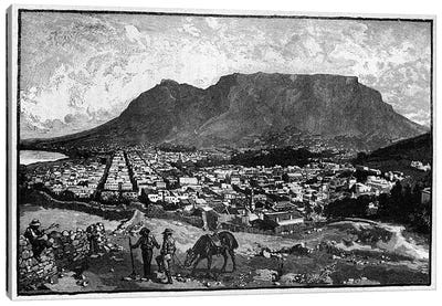 Cape Town, from 'The Life and Times of Queen Victoria' by Robert Wilson  Canvas Art Print