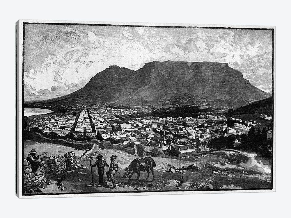 Cape Town, from 'The Life and Times of Queen Victoria' by Robert Wilson  by English School 1-piece Canvas Print