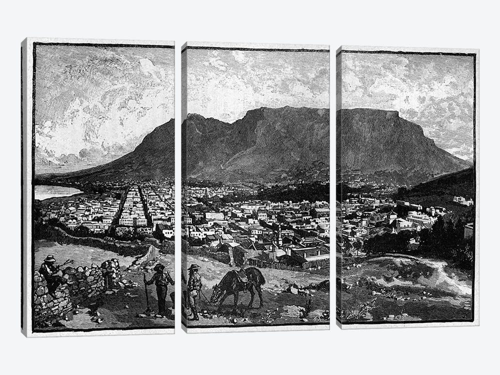 Cape Town, from 'The Life and Times of Queen Victoria' by Robert Wilson  by English School 3-piece Canvas Print