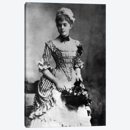 Baroness Mary Vetsera, c.1880s  Canvas Print #BMN3429} by Austrian Photographer Canvas Art Print