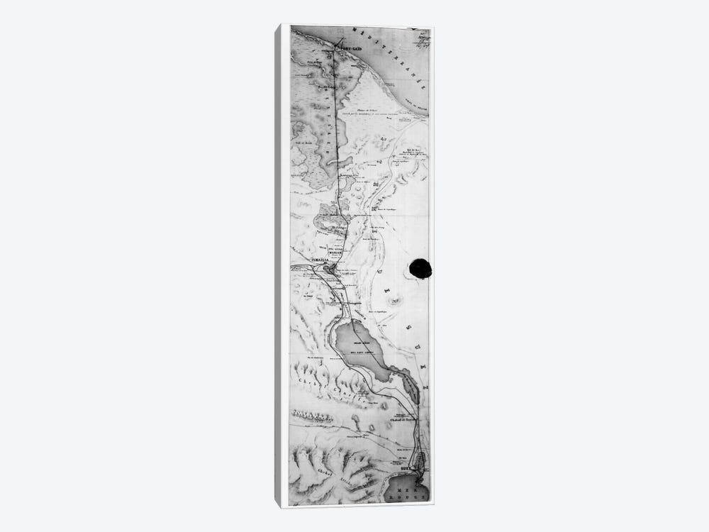 Map of the Suez Canal, c.1869  by French School 1-piece Canvas Artwork