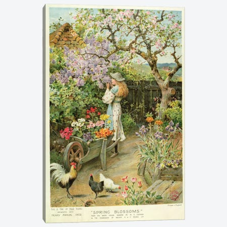 Spring Blossoms, from the Pears Annual, 1902 Canvas Print #BMN343} by William Stephen Coleman Art Print