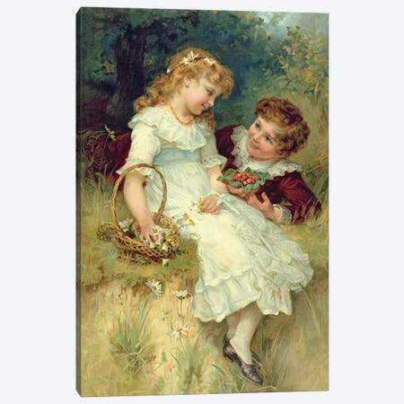 Sweethearts, from the Pears Annual, 1905 Canvas Print #BMN344} by Frederick Morgan Canvas Art