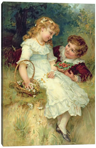 Sweethearts, from the Pears Annual, 1905 Canvas Art Print