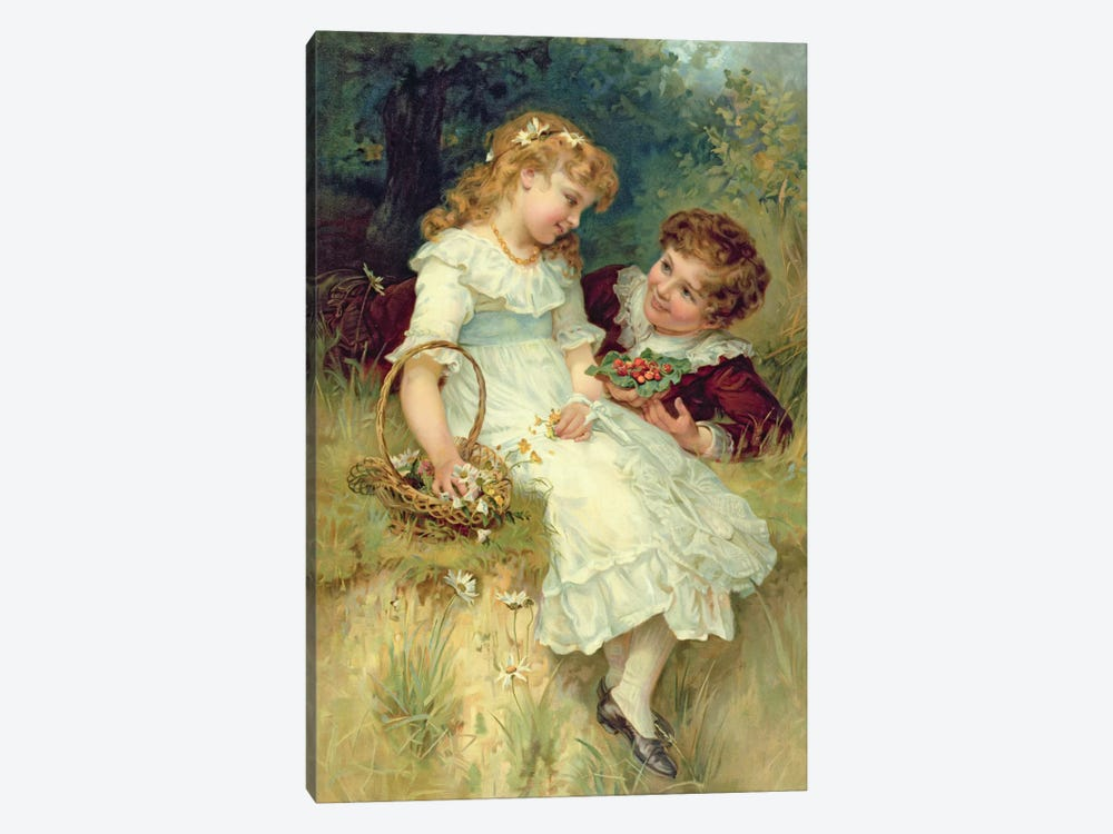 Sweethearts, from the Pears Annual, 1905 by Frederick Morgan 1-piece Art Print