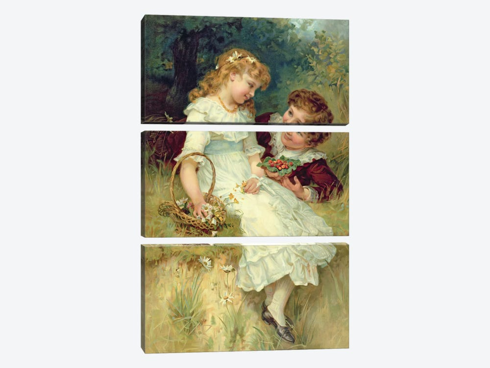 Sweethearts, from the Pears Annual, 1905 by Frederick Morgan 3-piece Canvas Art Print