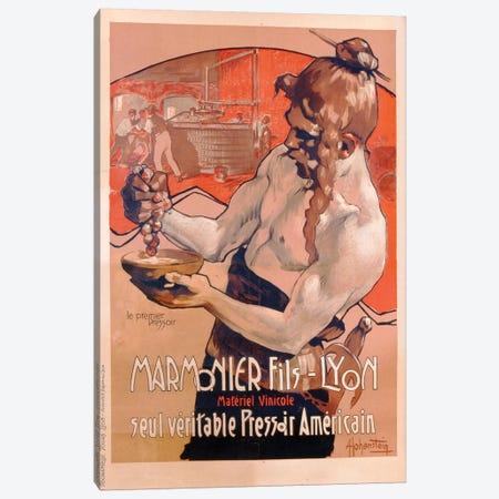 Advertisement for Marmonier Fils-Lyon, printed by Imp. Tourangelle, Tours, c.1910  Canvas Print #BMN3450} by Adolfo Hohenstein Canvas Artwork