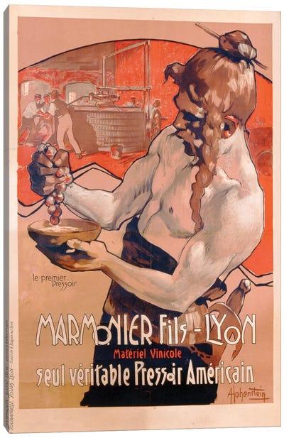 Advertisement for Marmonier Fils-Lyon, printed by Imp. Tourangelle, Tours, c.1910  Canvas Art Print
