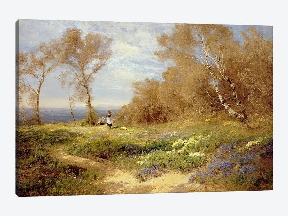 The Primrose Gatherers  by John Clayton Adams 1-piece Canvas Art Print