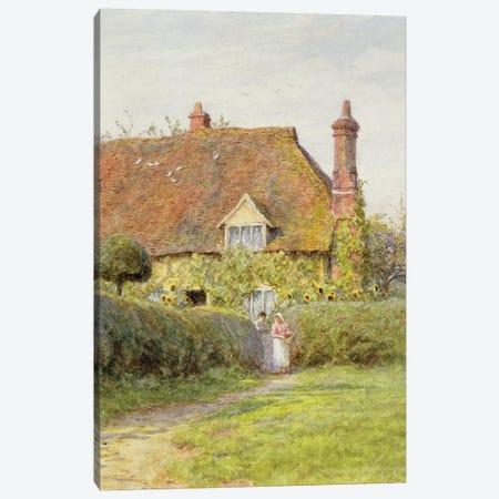 Sunflower Cottage  Canvas Print #BMN3453} by Helen Allingham Canvas Art