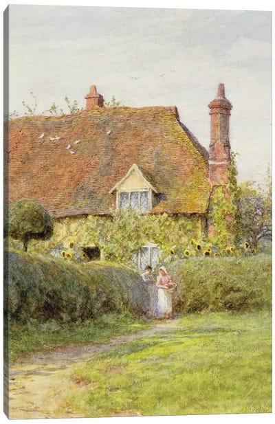 Sunflower Cottage  Canvas Art Print