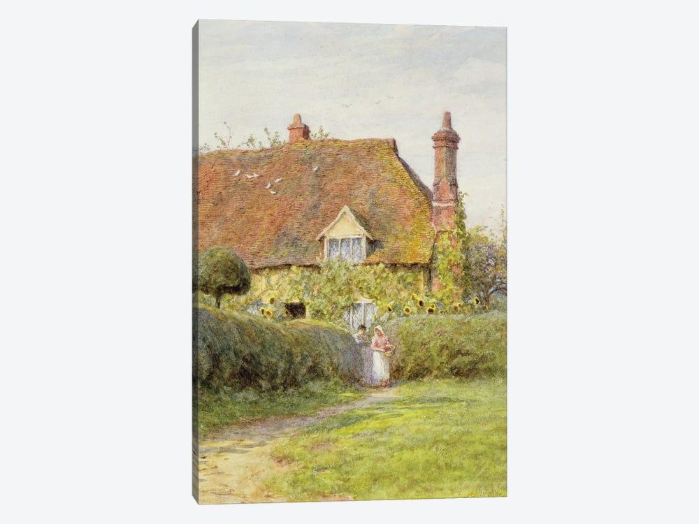 Sunflower Cottage  by Helen Allingham 1-piece Canvas Wall Art