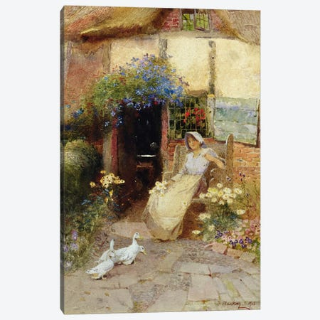 At the Cottage Door, 1913  Canvas Print #BMN3454} by Thomas Mackay Canvas Print