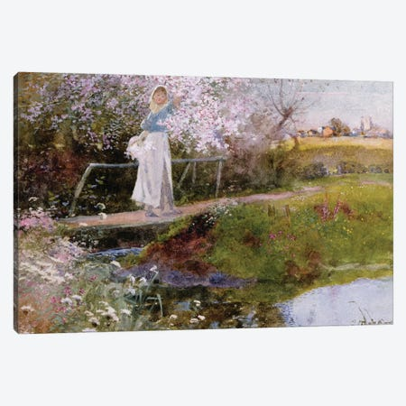 The Orchard Brook  Canvas Print #BMN3455} by Thomas Mackay Canvas Print