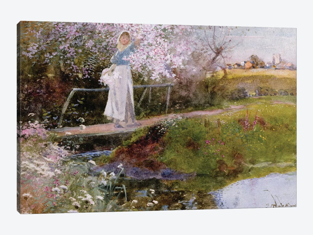 The Orchard Brook  by Thomas Mackay 1-piece Canvas Artwork