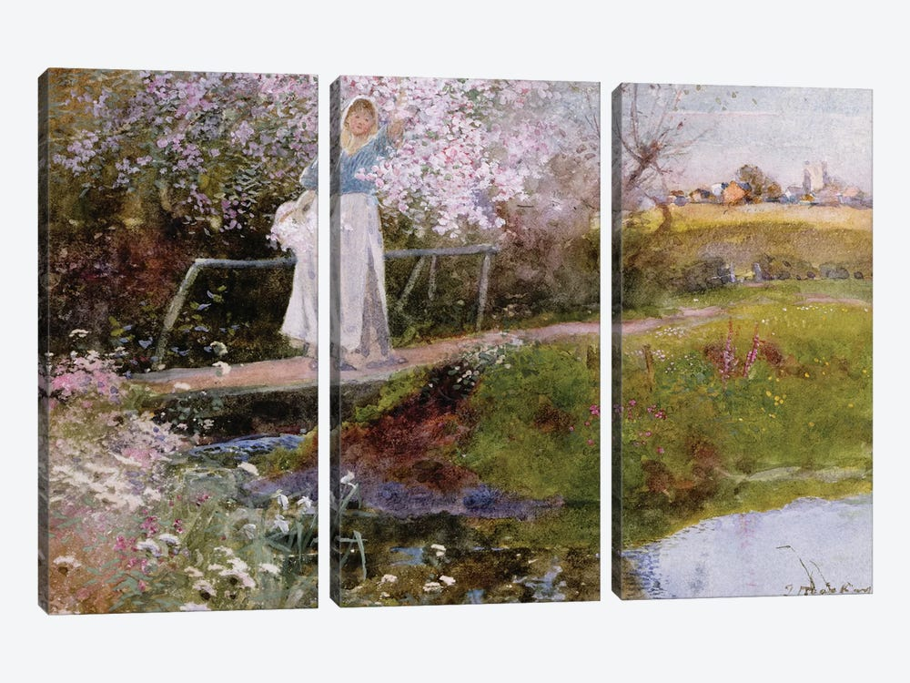 The Orchard Brook  by Thomas Mackay 3-piece Canvas Wall Art