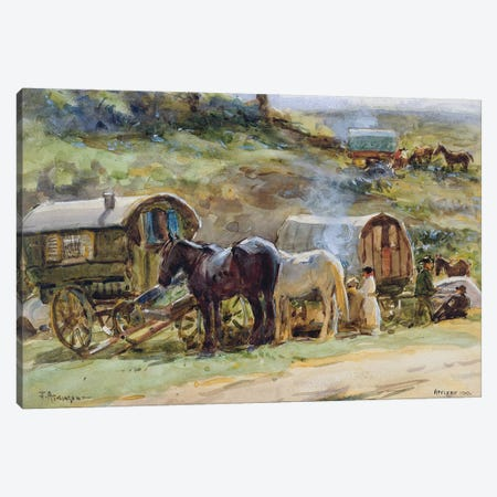 Gypsy Encampment, Appleby, 1919  Canvas Print #BMN3456} by John Atkinson Art Print