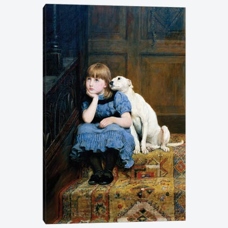 Sympathy, 1877  Canvas Print #BMN345} by Briton Riviere Canvas Artwork