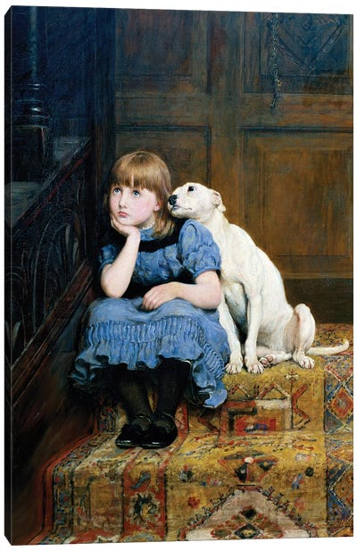Sympathy, 1877  Canvas Art Print
