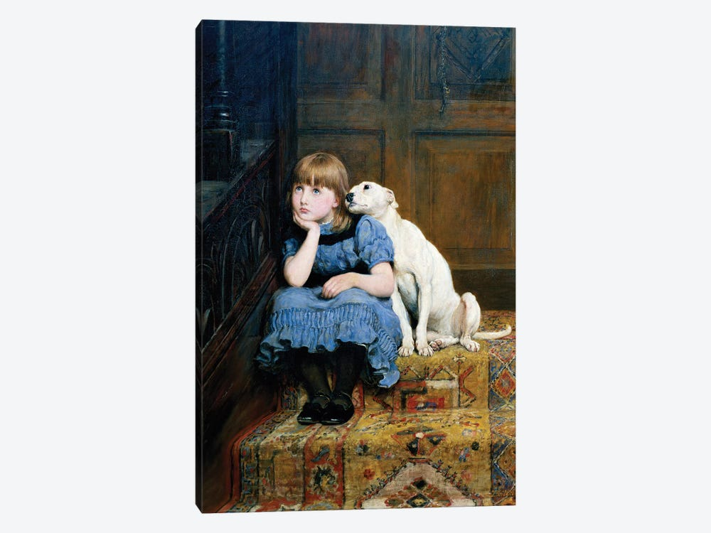 Sympathy, 1877  by Briton Riviere 1-piece Canvas Artwork