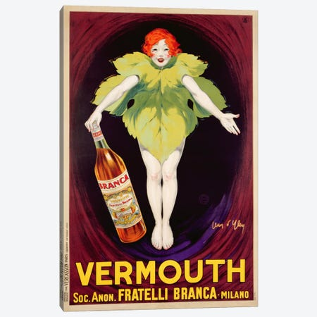 Poster advertising 'Fratelli Branca' vermouth, 1922  Canvas Print #BMN3462} by Jean D'Ylen Art Print