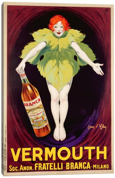 Poster advertising 'Fratelli Branca' vermouth, 1922  Canvas Art Print