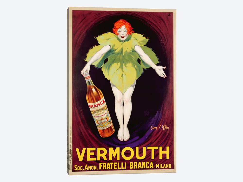 Poster advertising 'Fratelli Branca' vermouth, 1922  by Jean D'Ylen 1-piece Canvas Art