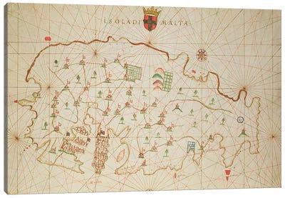The Island of Malta, from a nautical atlas, 1646  Canvas Print #BMN3487