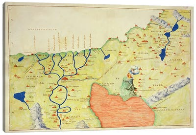 The Middle East, from an Atlas of the World in 33 Maps, Venice, 1st September 1553  Canvas Art Print