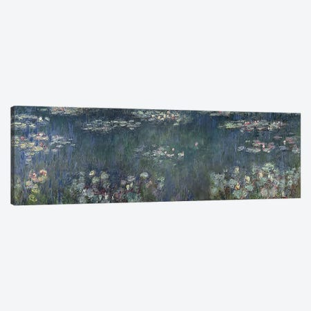 Waterlilies: Green Reflections, 1914-18 P Canvas Print #BMN3508} by Claude Monet Canvas Wall Art