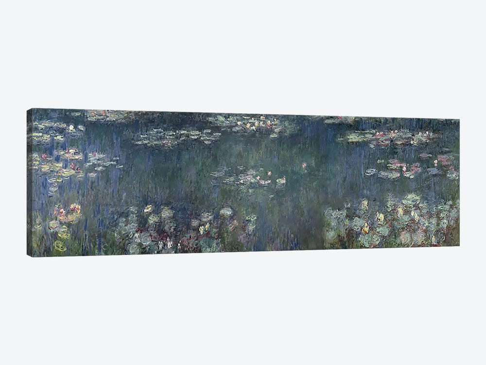 Waterlilies: Green Reflections, 1914-18 P by Claude Monet 1-piece Art Print