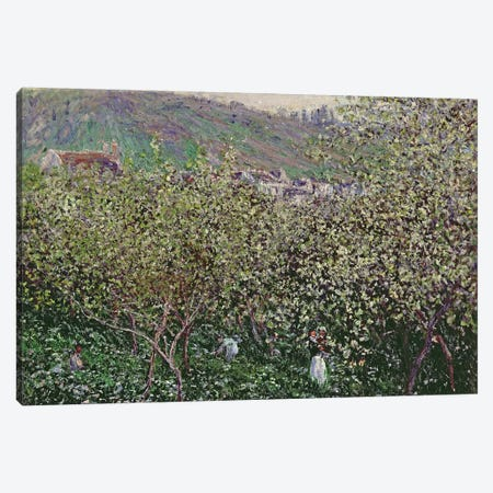 Fruit Pickers, 1879  Canvas Print #BMN3515} by Claude Monet Canvas Art