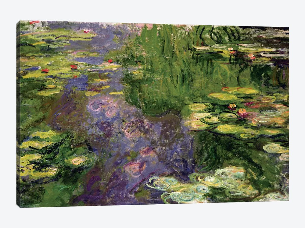 Waterlilies  by Claude Monet 1-piece Canvas Wall Art