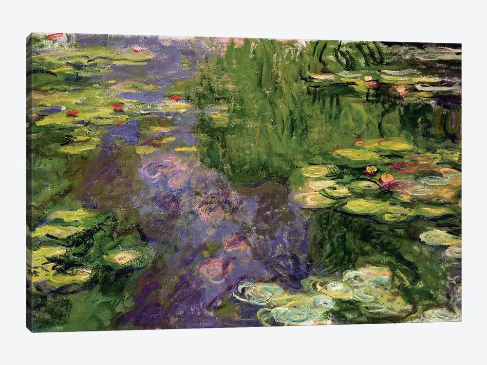 Waterlilies  by Claude Monet 1-piece Canvas Wall Art