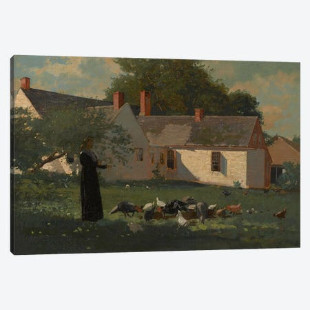 Farmyard Scene, c.1874  Canvas Print #BMN3520} by Winslow Homer Canvas Art